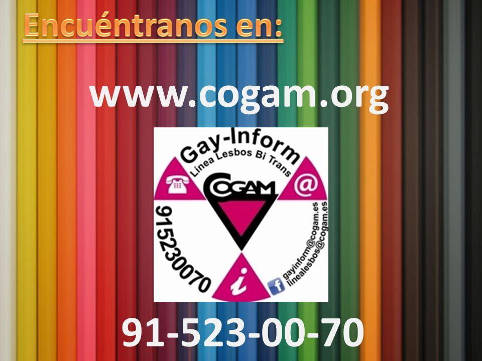 Encuéntranos en: www.cogam.org Contacto 91-523-00-70