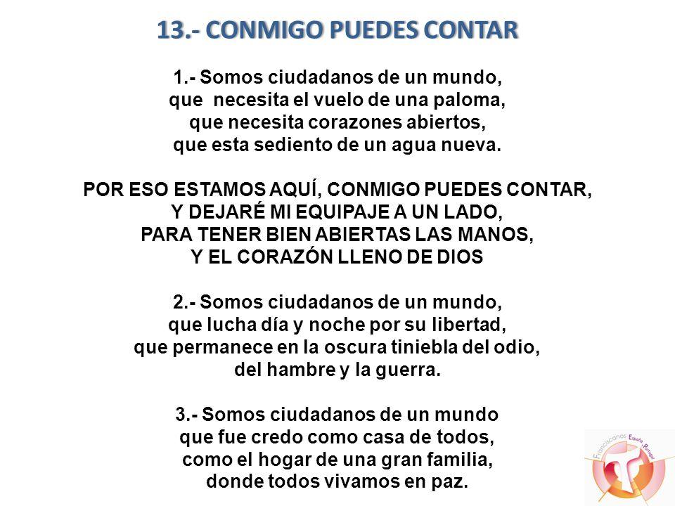 13. - CONMIGO PUEDES CONTAR 1