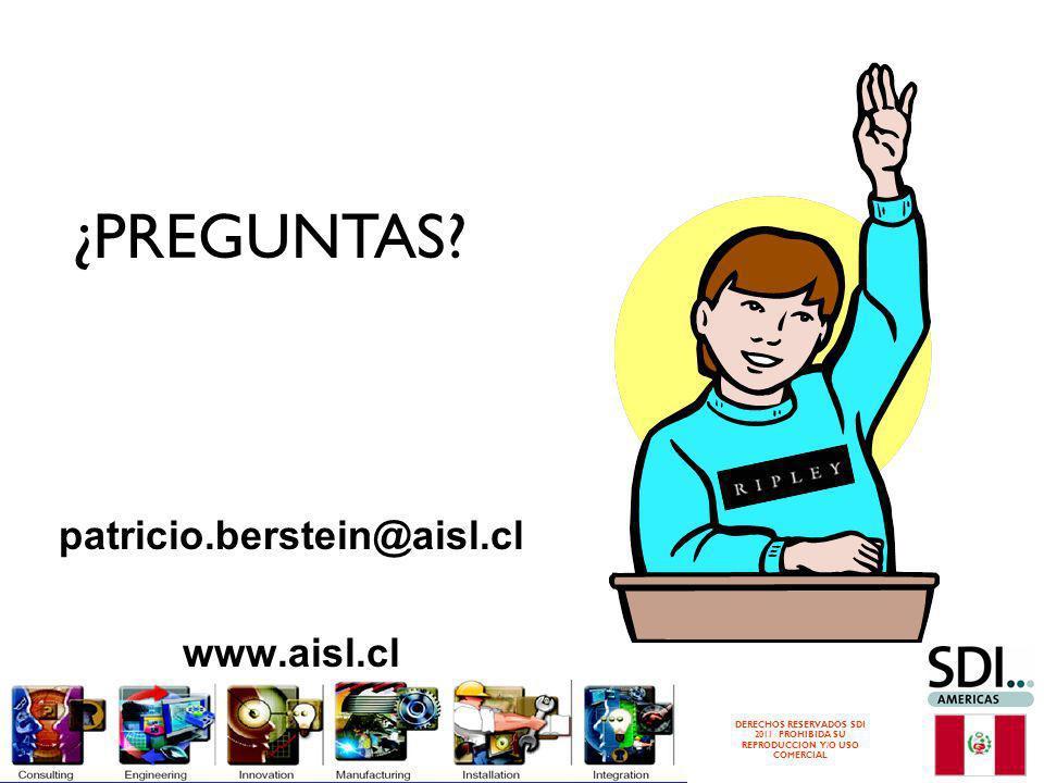¿PREGUNTAS patricio.berstein@aisl.cl www.aisl.cl