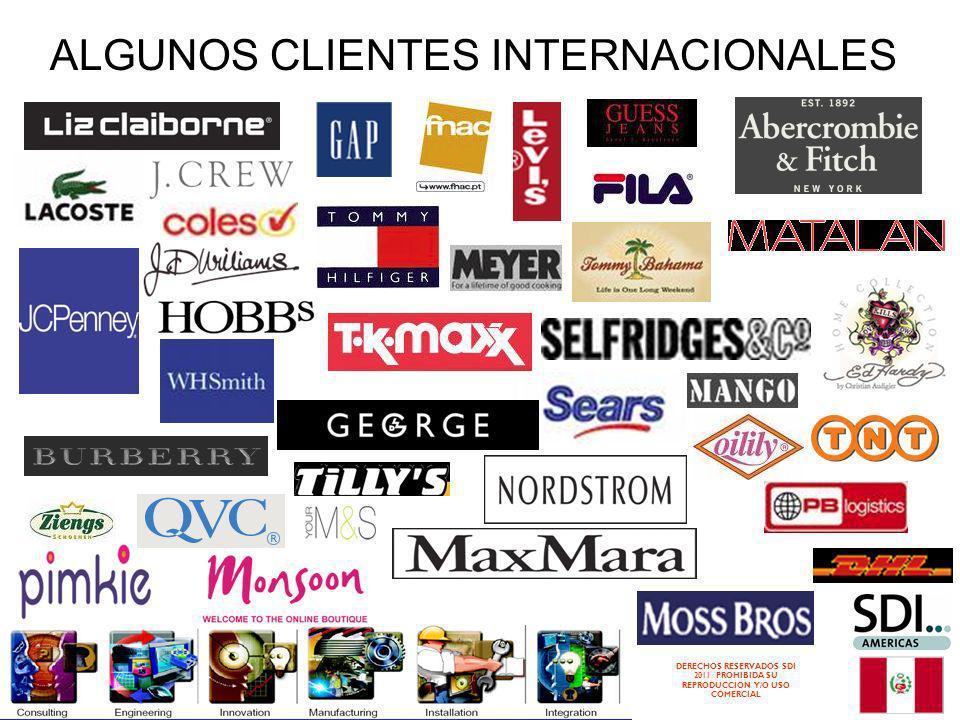 ALGUNOS CLIENTES INTERNACIONALES