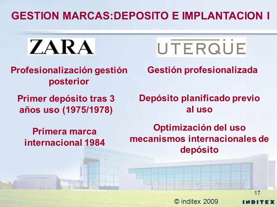 GESTION MARCAS:DEPOSITO E IMPLANTACION I