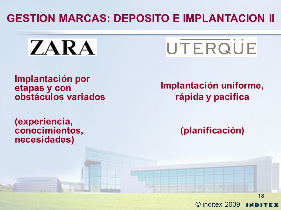 GESTION MARCAS: DEPOSITO E IMPLANTACION II