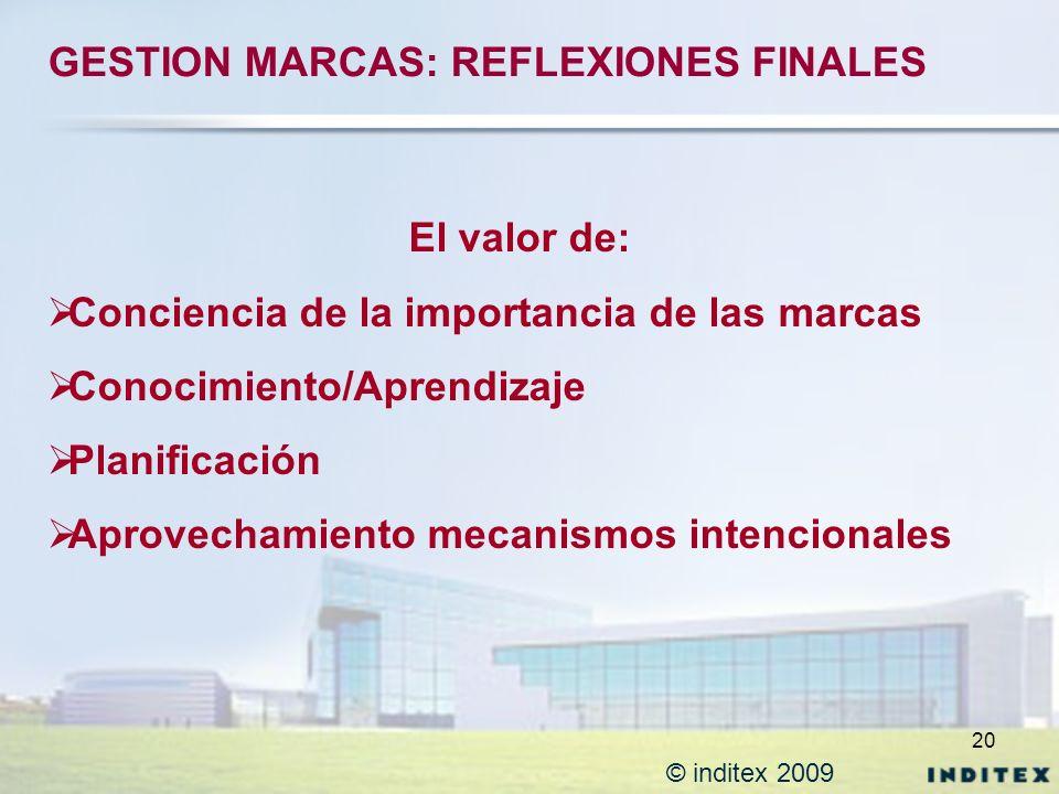 GESTION MARCAS: REFLEXIONES FINALES