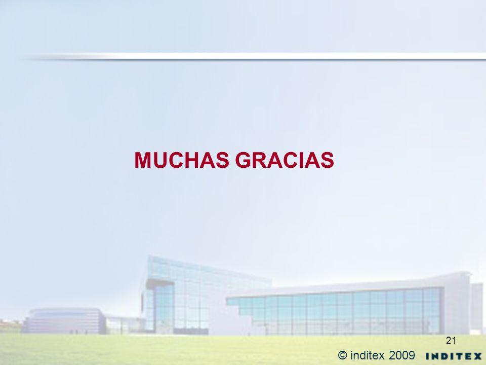 MUCHAS GRACIAS © inditex 2009