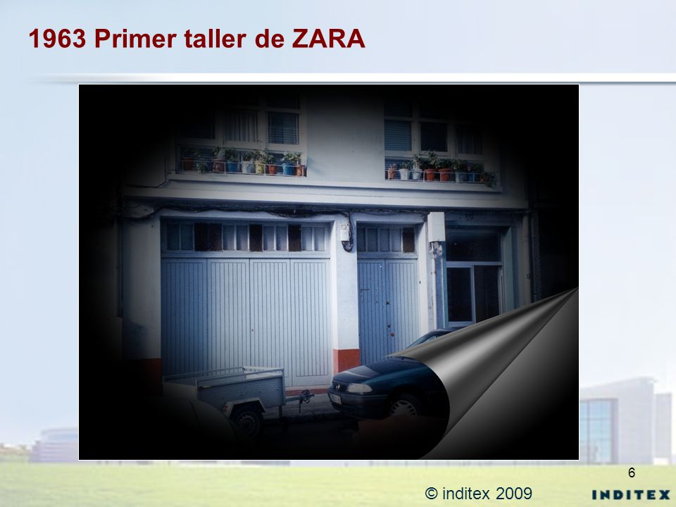 1963 Primer taller de ZARA © inditex 2009