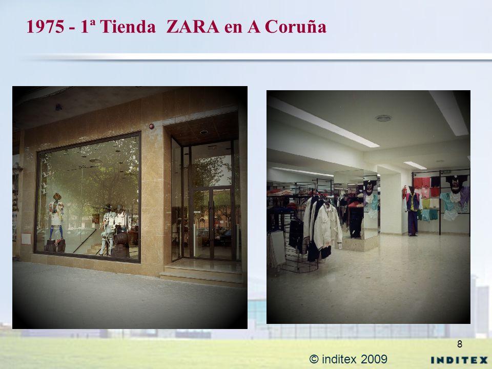 1975 - 1ª Tienda ZARA en A Coruña