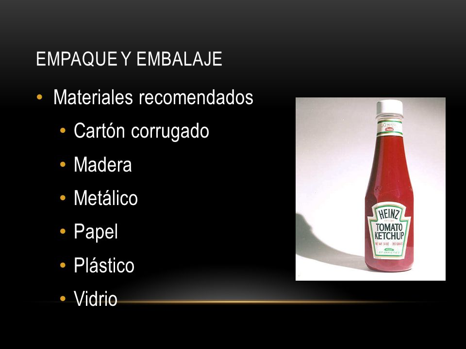 Materiales recomendados Cartón corrugado Madera Metálico Papel
