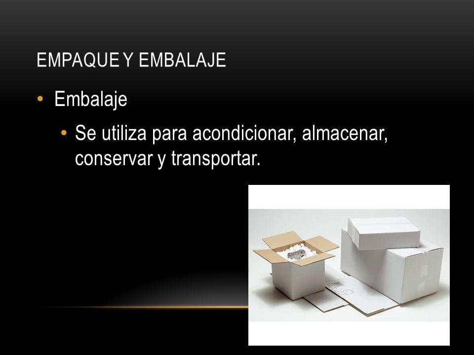 Se utiliza para acondicionar, almacenar, conservar y transportar.