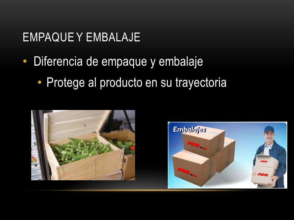 Diferencia de empaque y embalaje Protege al producto en su trayectoria