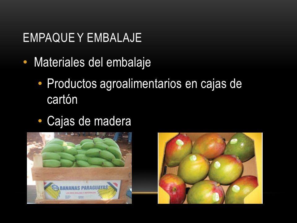 Materiales del embalaje Productos agroalimentarios en cajas de cartón
