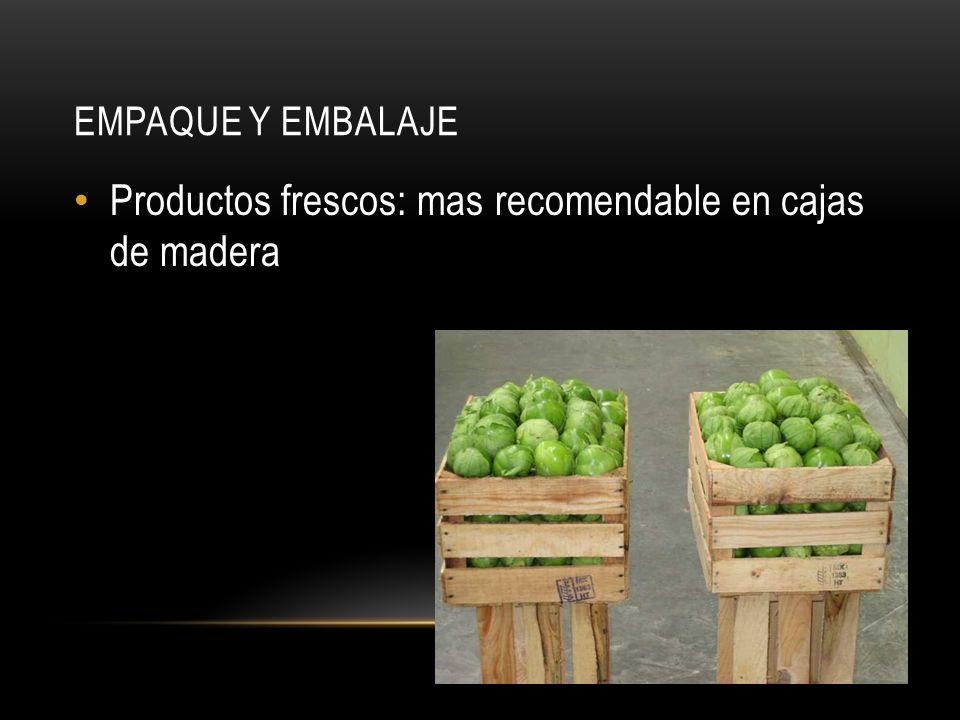 Productos frescos: mas recomendable en cajas de madera