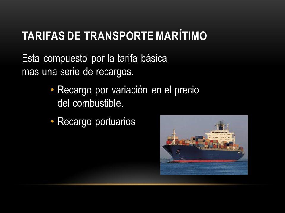 Tarifas de transporte marítimo
