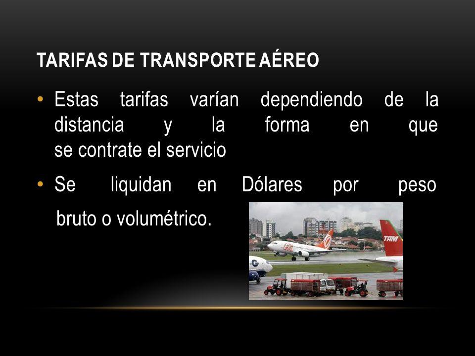 Tarifas de transporte aéreo