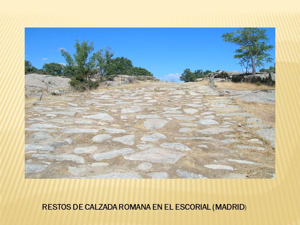 RESTOS DE CALZADA ROMANA EN EL ESCORIAL (MADRID)