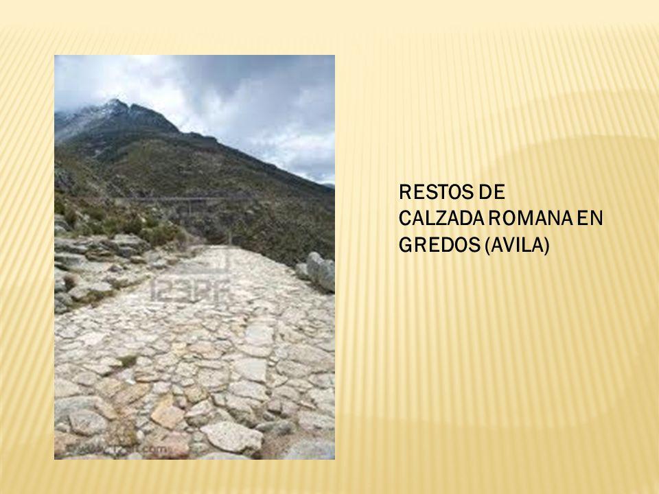 RESTOS DE CALZADA ROMANA EN GREDOS (AVILA)