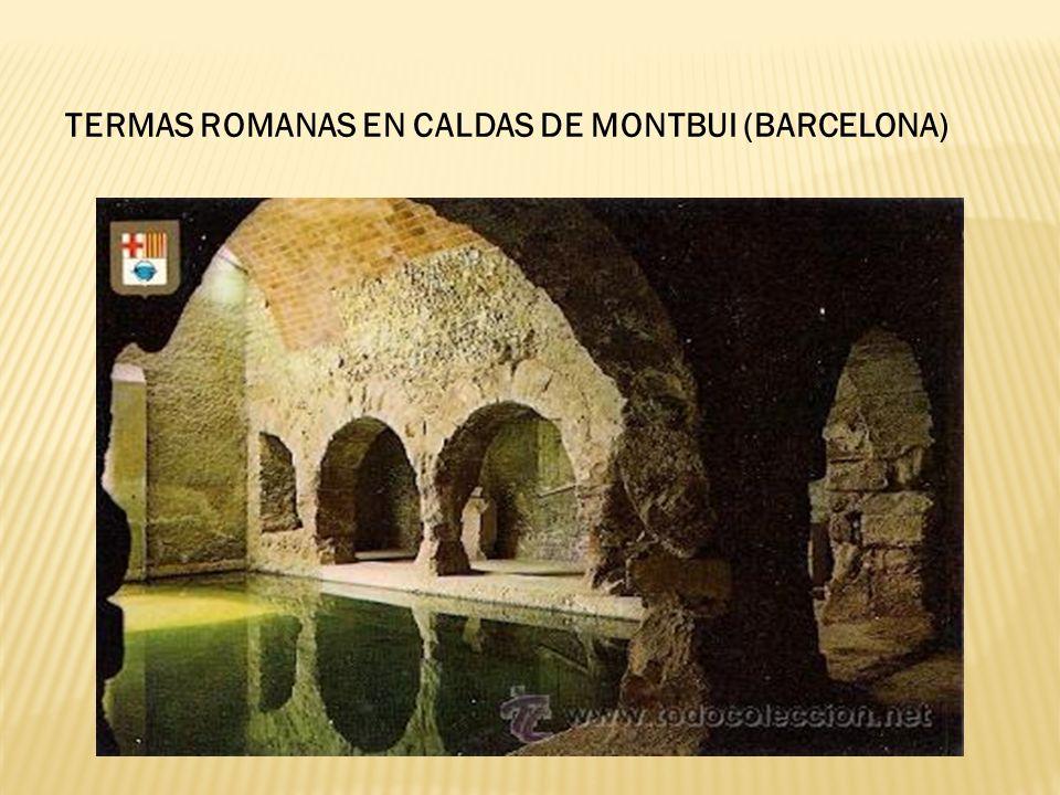 TERMAS ROMANAS EN CALDAS DE MONTBUI (BARCELONA)