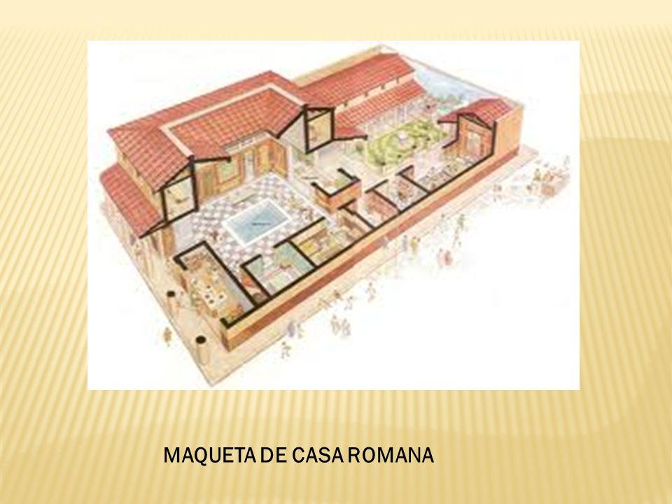 MAQUETA DE CASA ROMANA