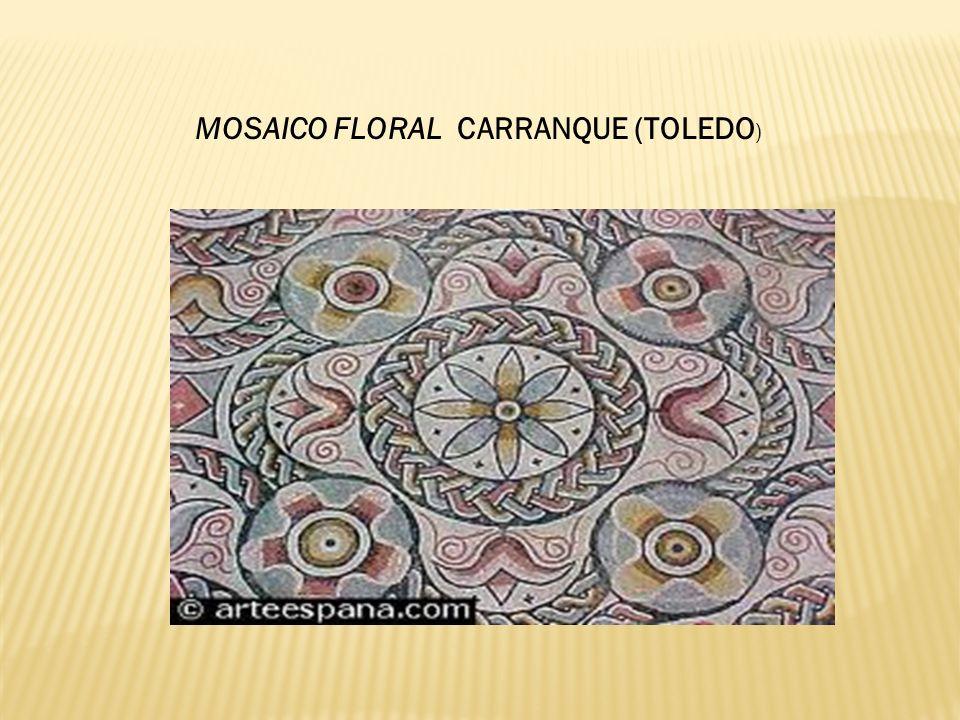 MOSAICO FLORAL CARRANQUE (TOLEDO)