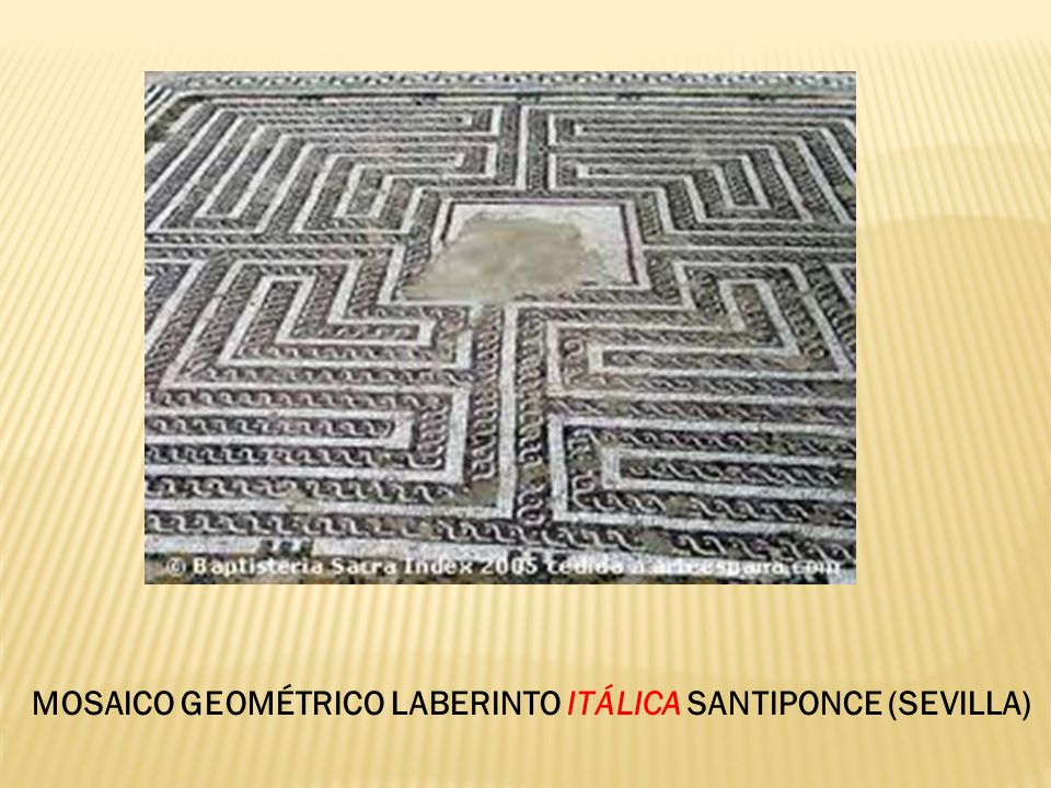 MOSAICO GEOMÉTRICO LABERINTO ITÁLICA SANTIPONCE (SEVILLA)