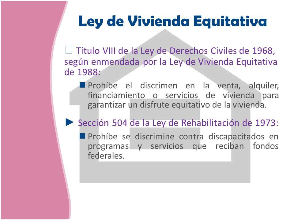 Ley de Vivienda Equitativa