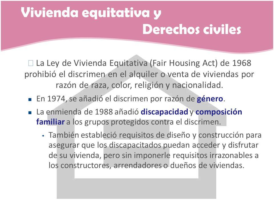 Vivienda equitativa y Derechos civiles
