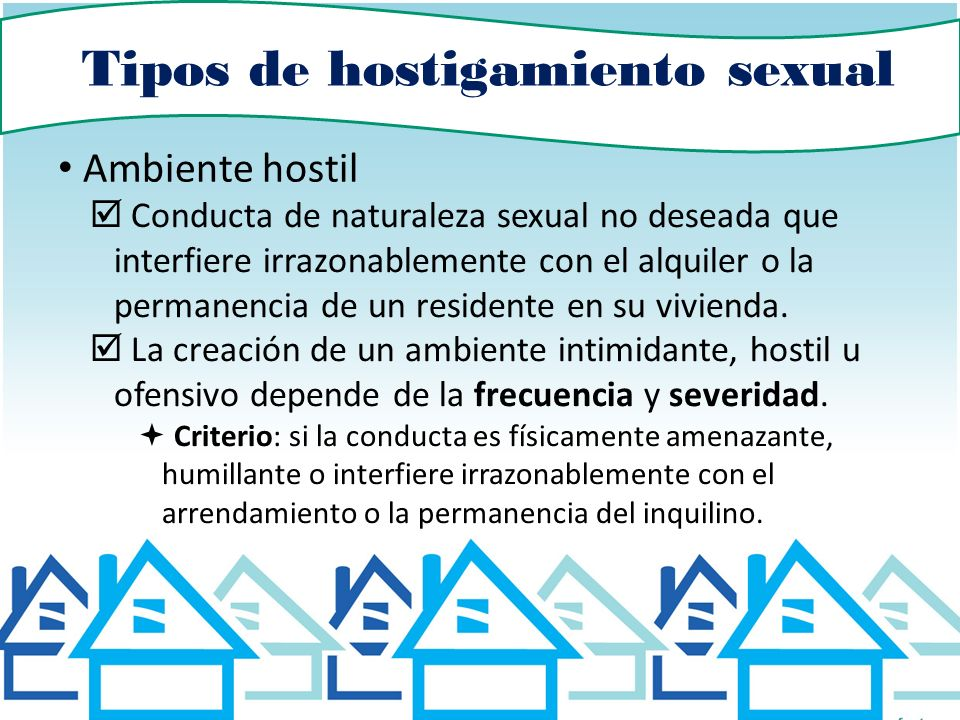 Tipos de hostigamiento sexual