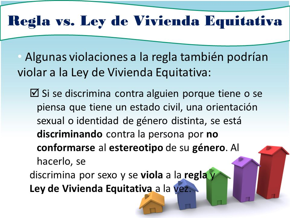 Regla vs. Ley de Vivienda Equitativa