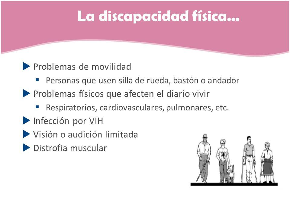 La discapacidad física...