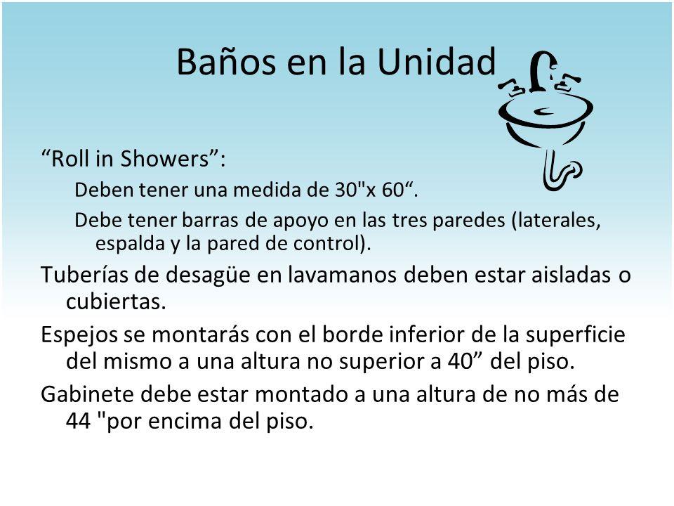 Baños en la Unidad Roll in Showers :