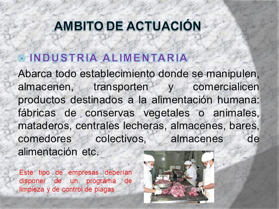 AMBITO DE ACTUACIÓN INDUSTRIA ALIMENTARIA