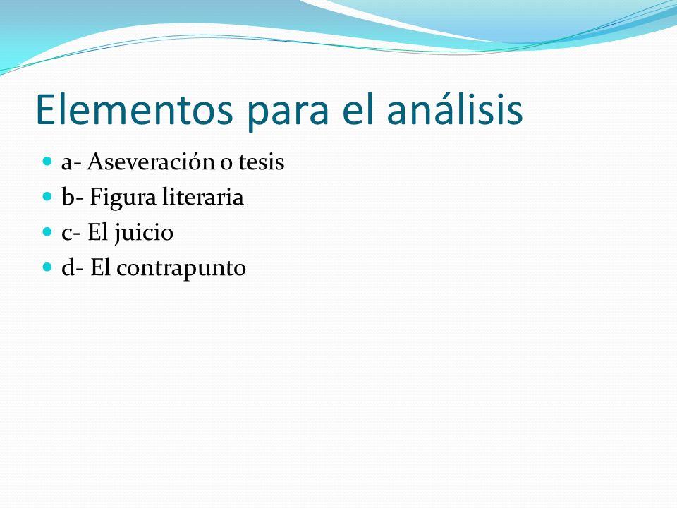 Elementos para el análisis