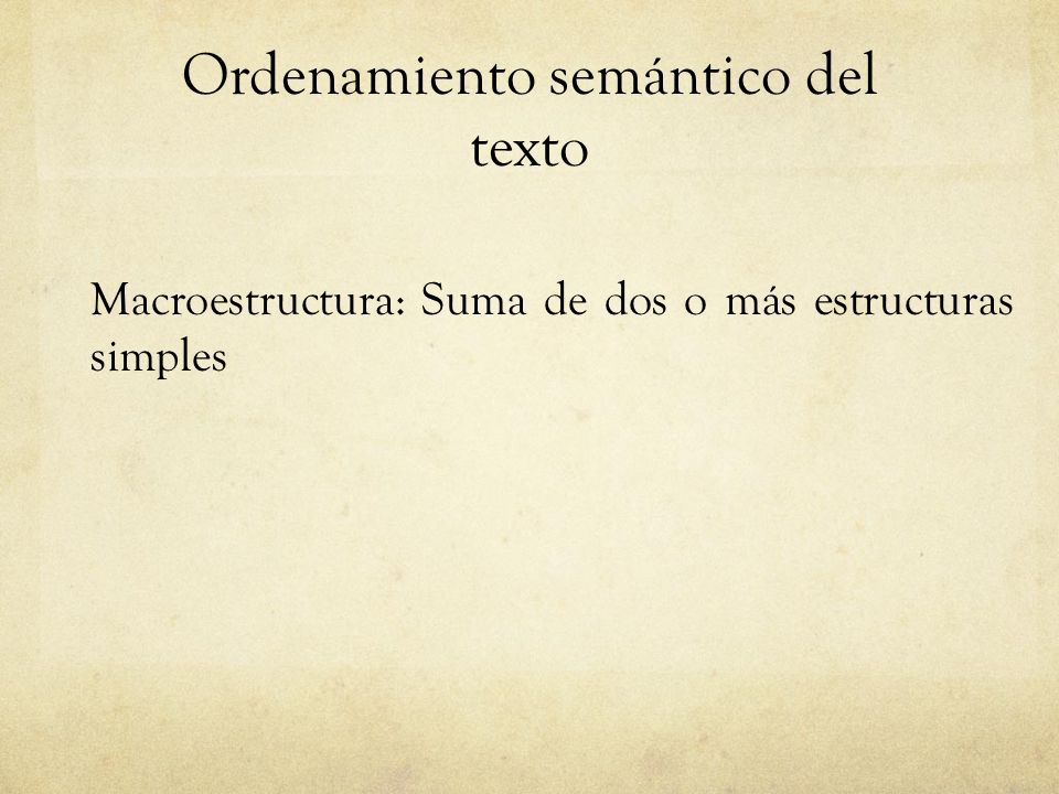Ordenamiento semántico del texto