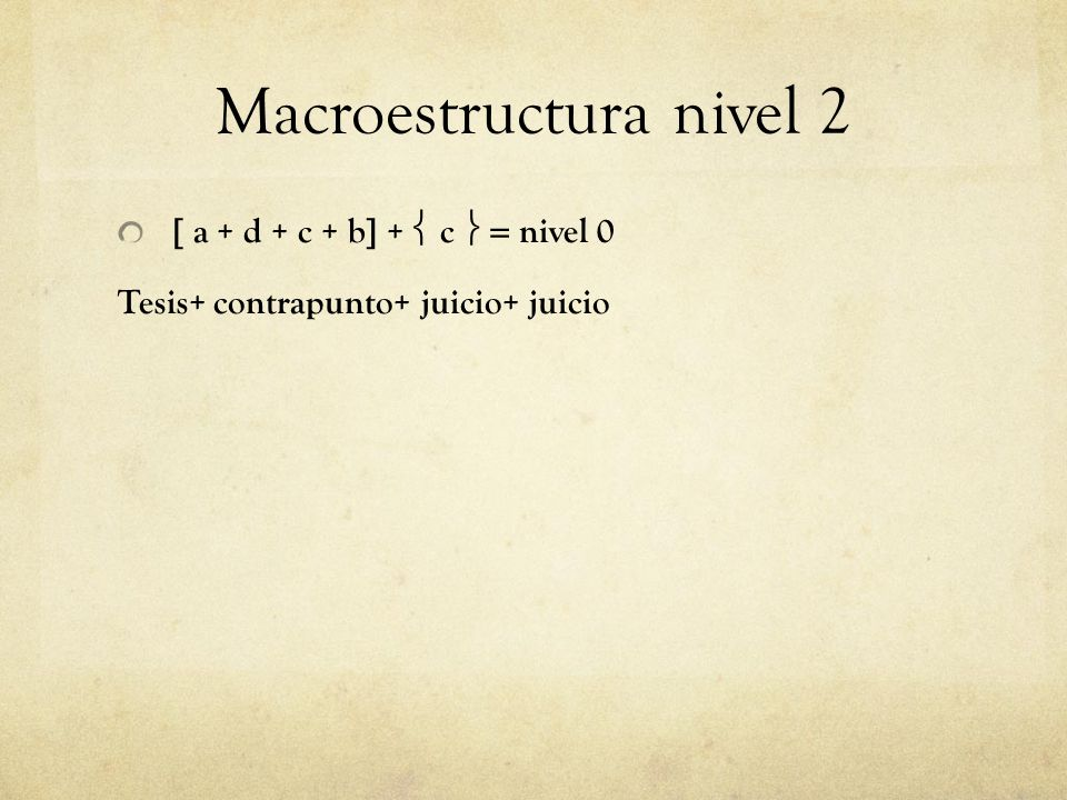 Macroestructura nivel 2
