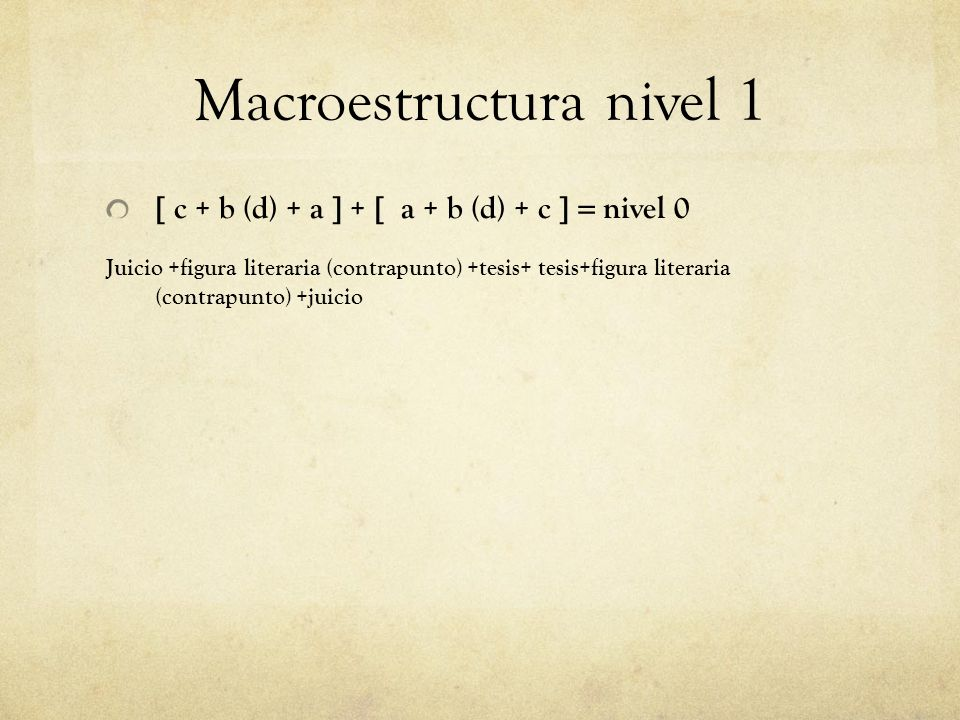 Macroestructura nivel 1