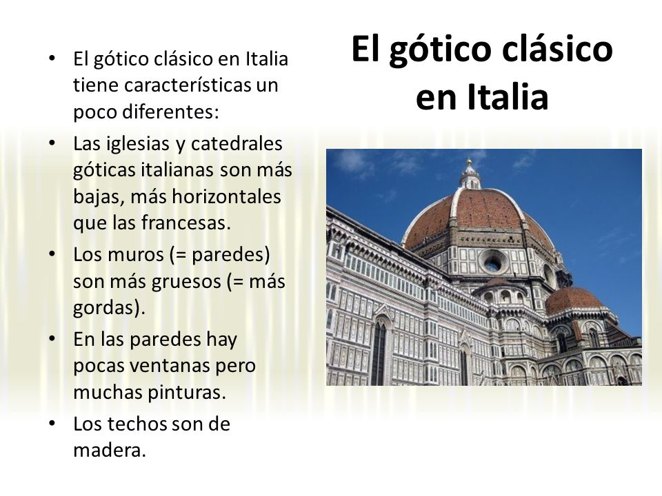 El gótico clásico en Italia