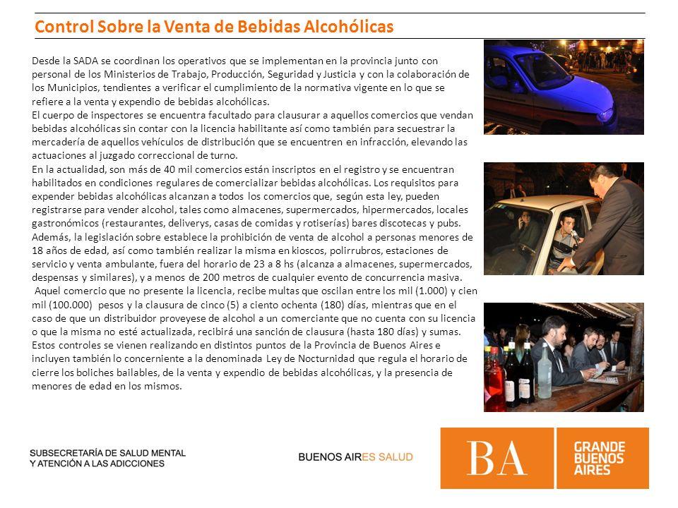Control Sobre la Venta de Bebidas Alcohólicas