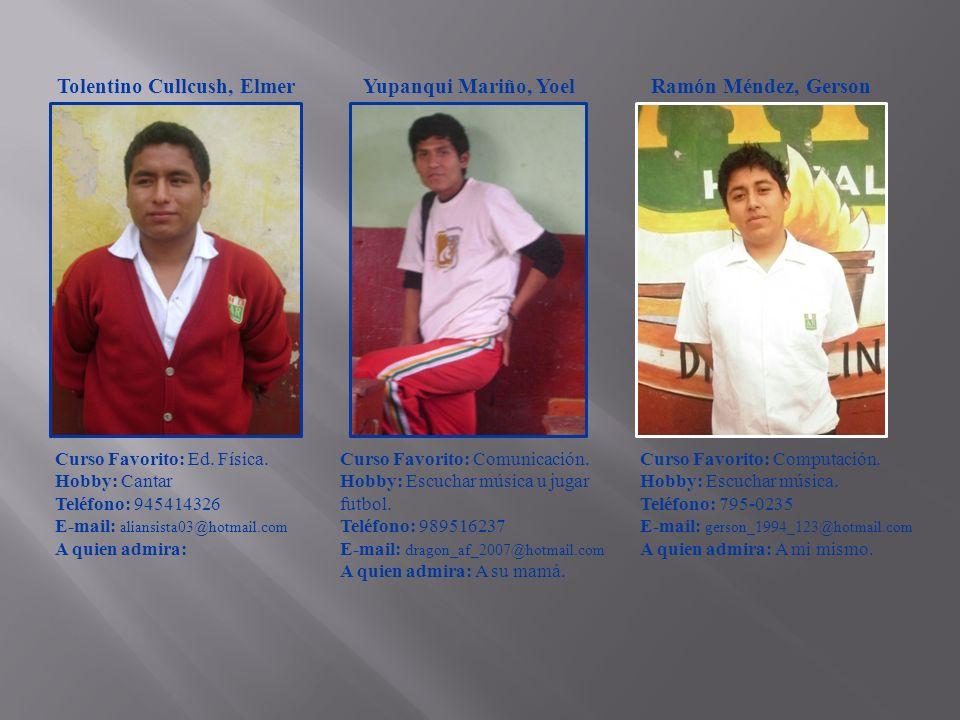 Tolentino Cullcush, Elmer