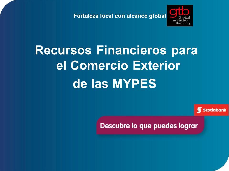 Recursos Financieros para el Comercio Exterior de las MYPES