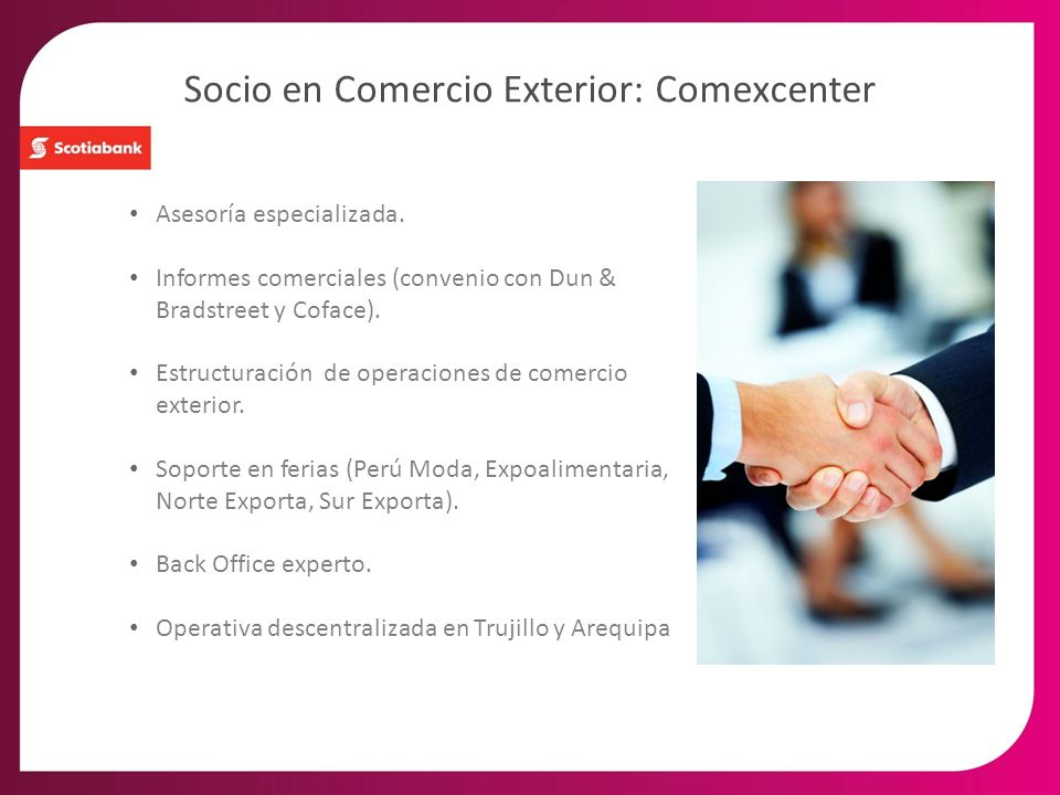 Socio en Comercio Exterior: Comexcenter