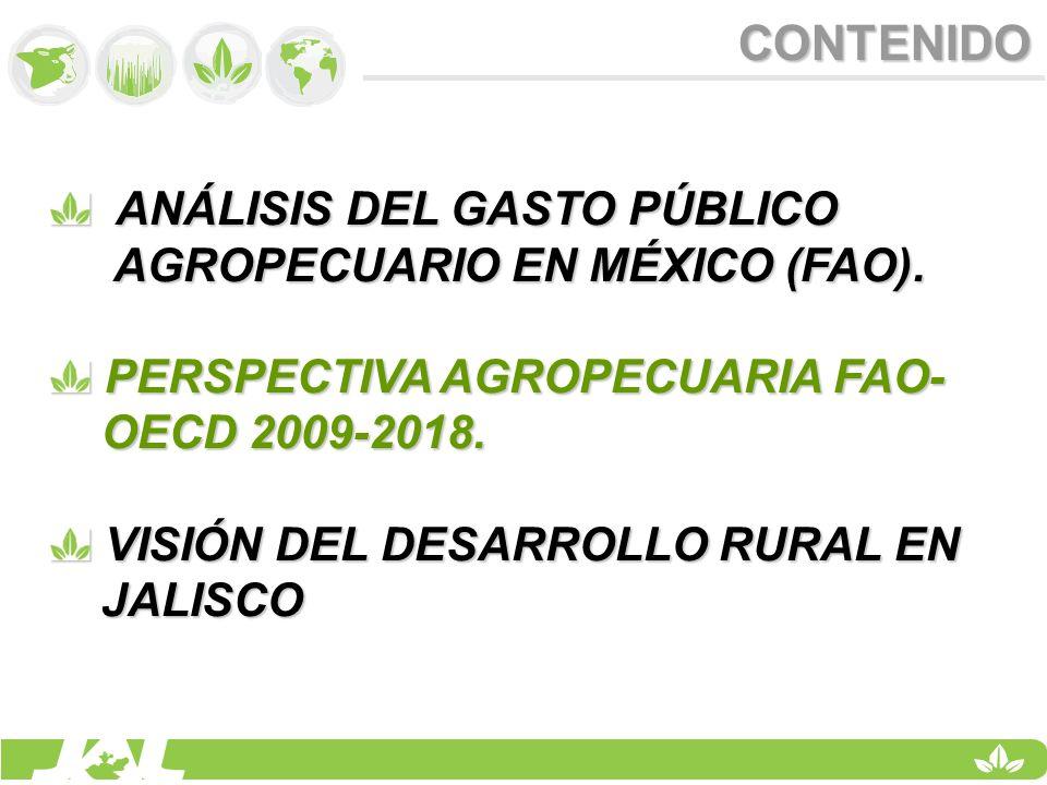 CONTENIDO ANÁLISIS DEL GASTO PÚBLICO AGROPECUARIO EN MÉXICO (FAO).