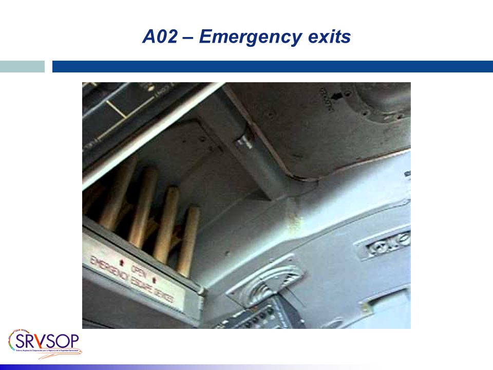 A02 – Emergency exits