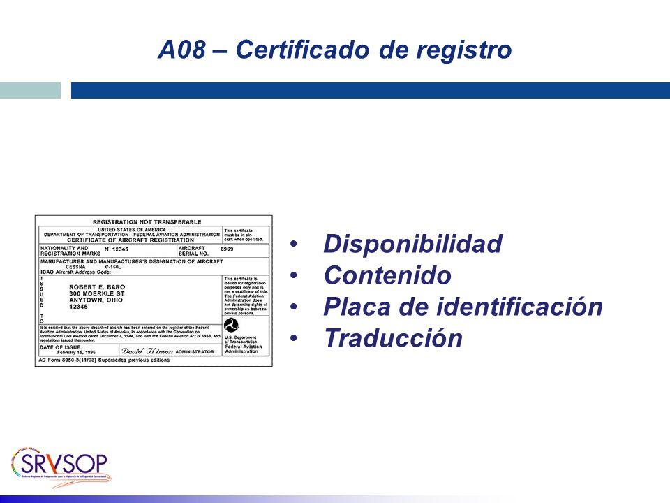 A08 – Certificado de registro