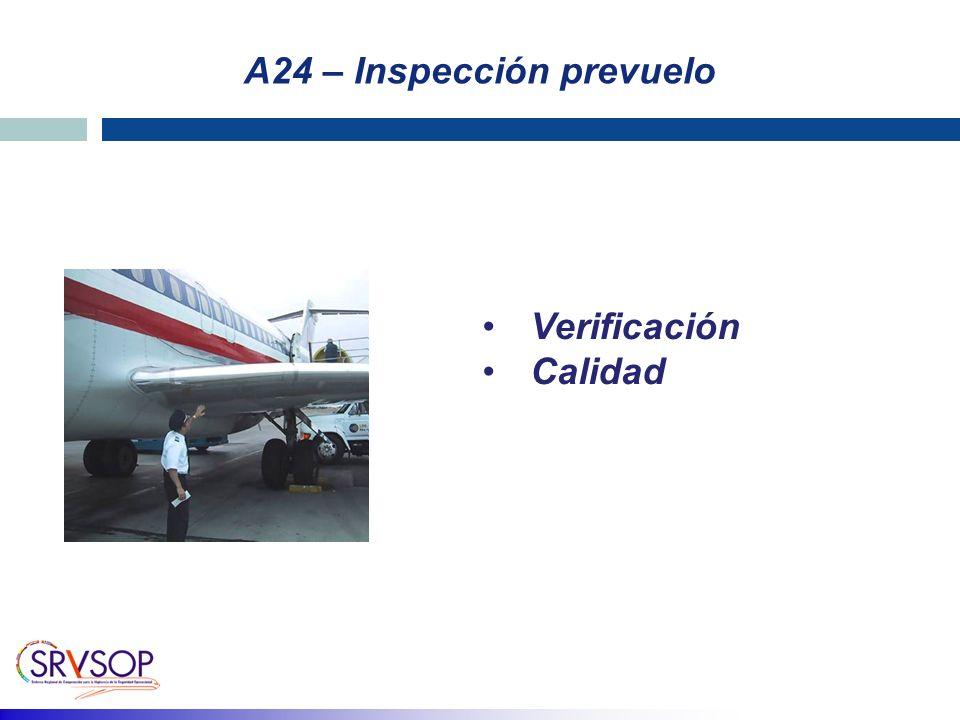 A24 – Inspección prevuelo