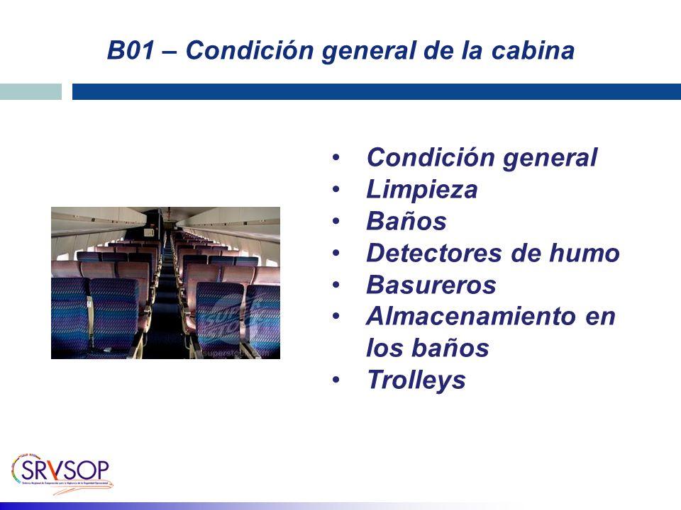 B01 – Condición general de la cabina