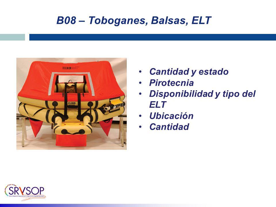 B08 – Toboganes, Balsas, ELT