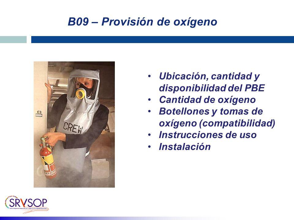 B09 – Provisión de oxígeno