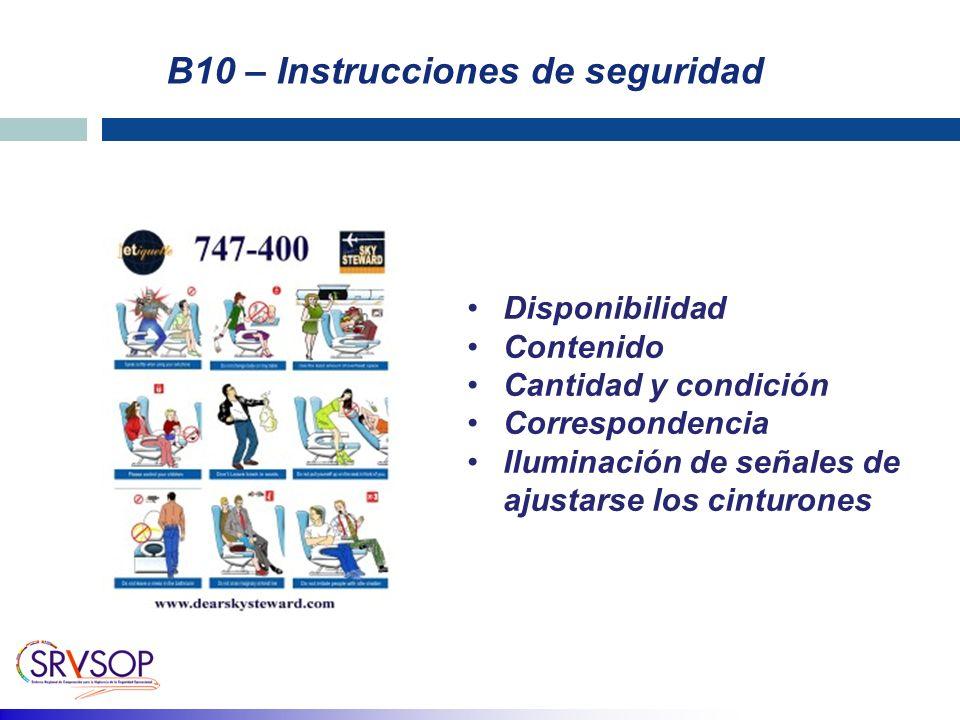 B10 – Instrucciones de seguridad