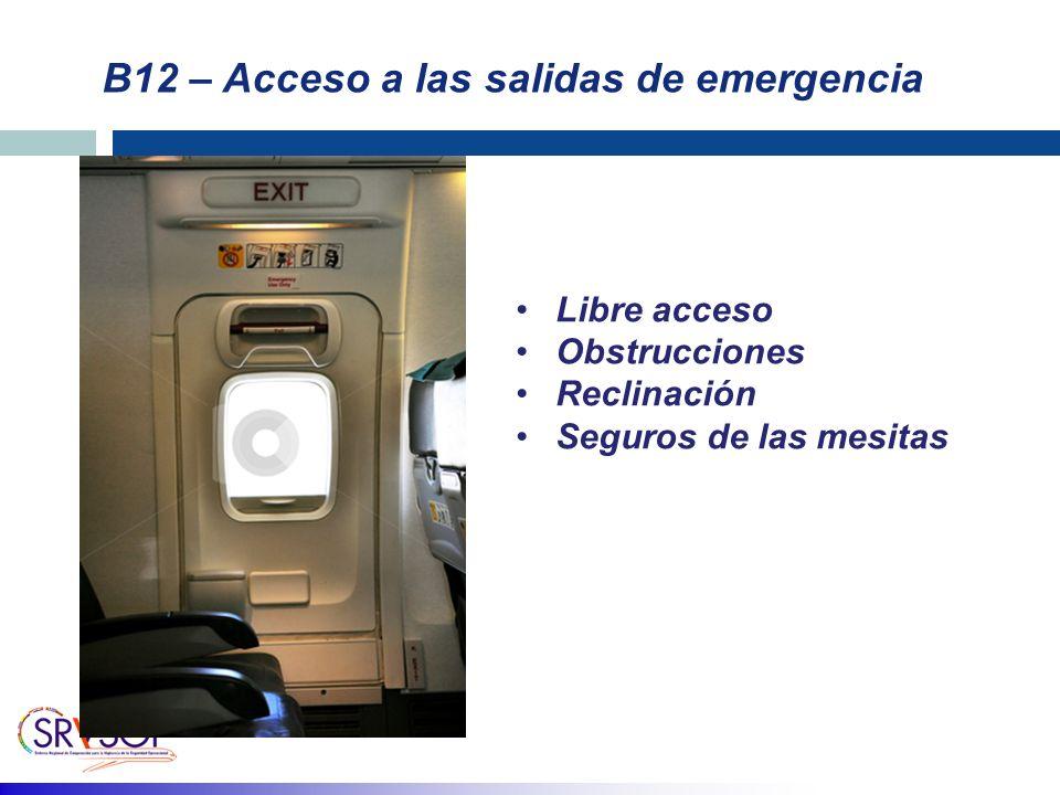 B12 – Acceso a las salidas de emergencia