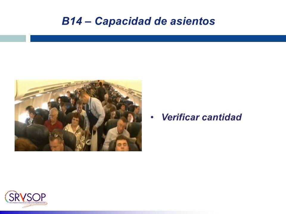 B14 – Capacidad de asientos