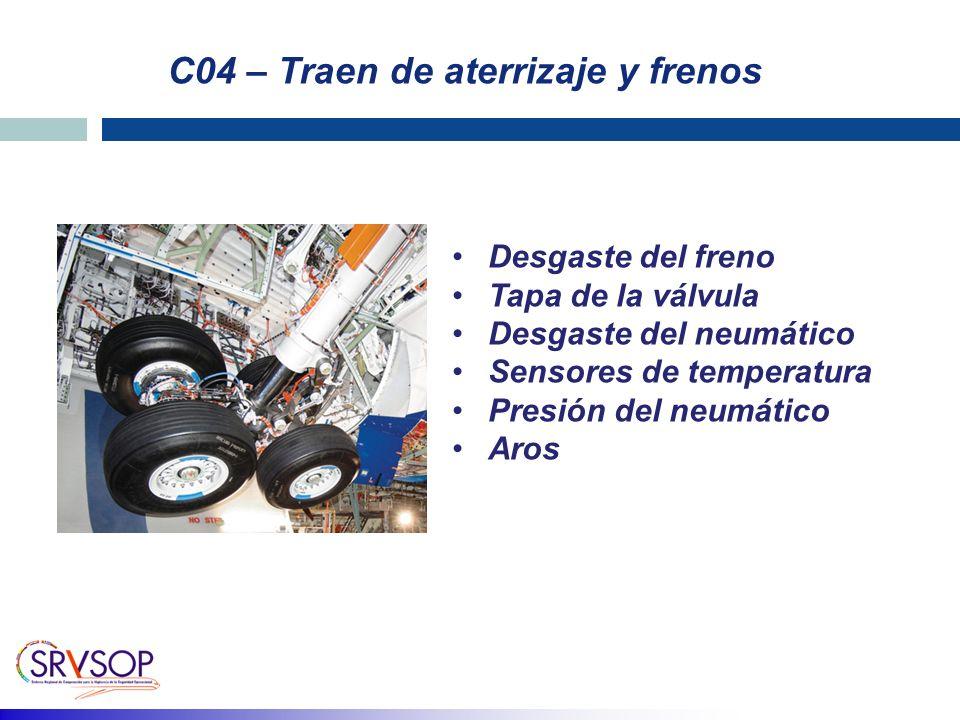 C04 – Traen de aterrizaje y frenos